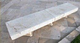 panchina in marmo venato