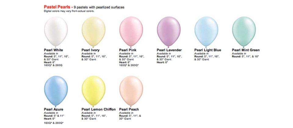 Light colour balloons