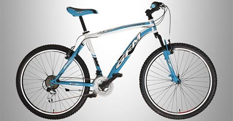 Bicicletta blu e bianca di paseo