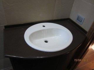 ripiano pietra lavica per lavandino