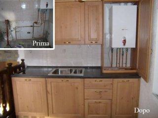 prima e dopo installazione cucina su misura