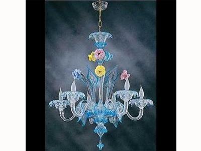 lampadario a fiori