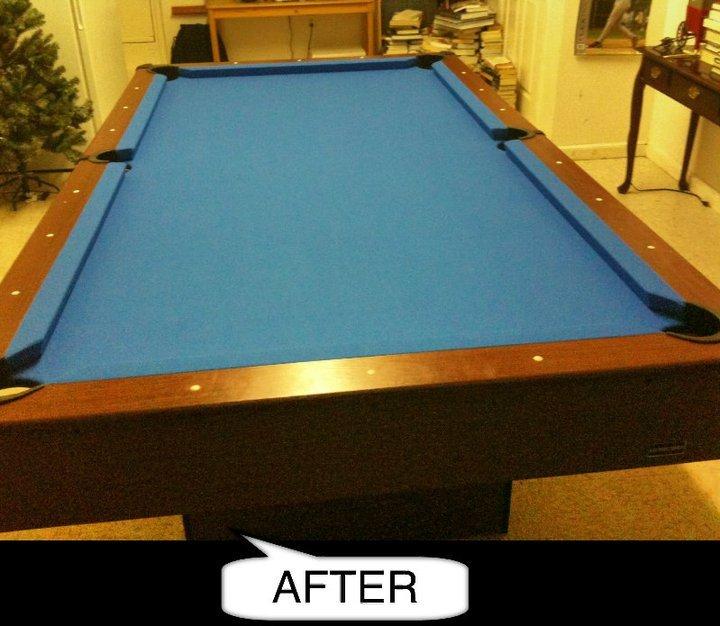 Pool Table Re Felt