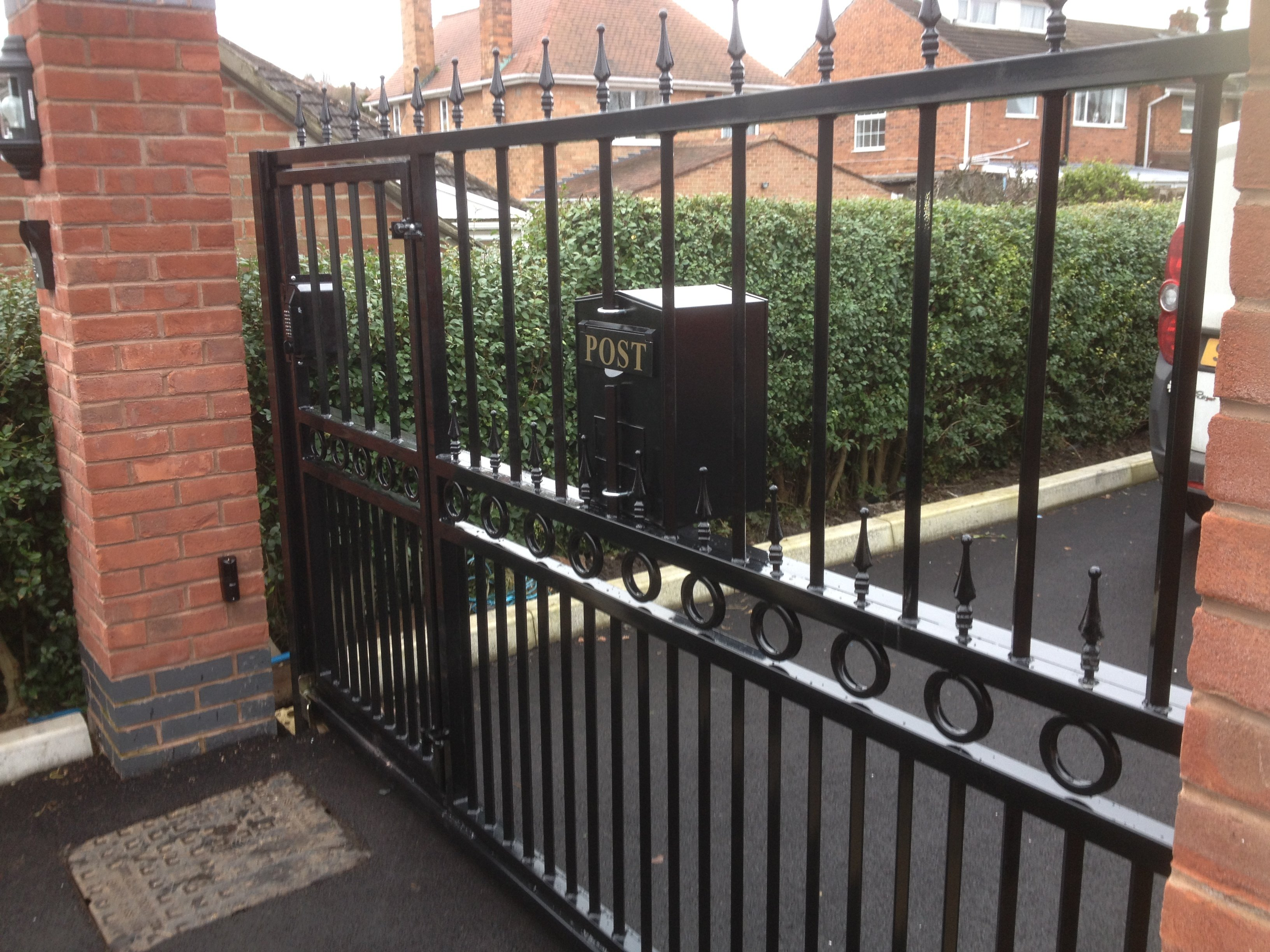 domestic iron gates