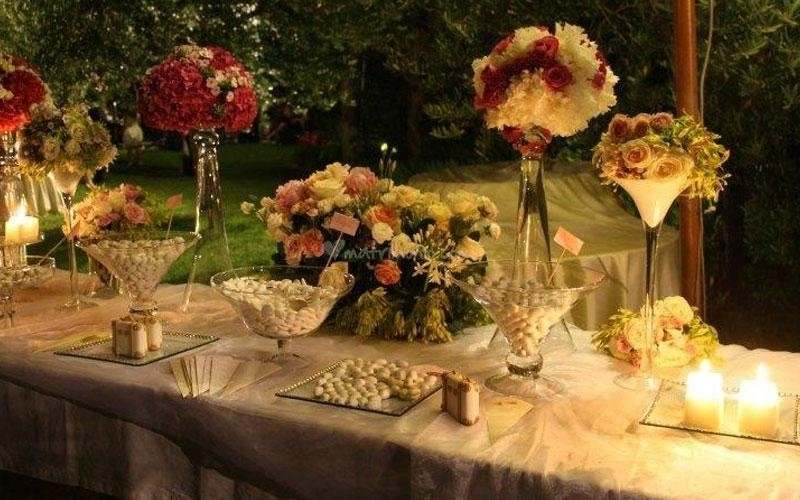 confettiera e fiori