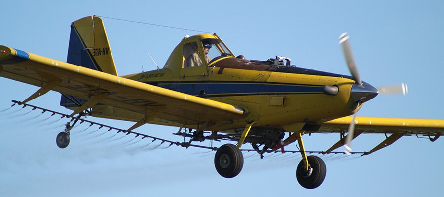 border air service crop duster aircraft