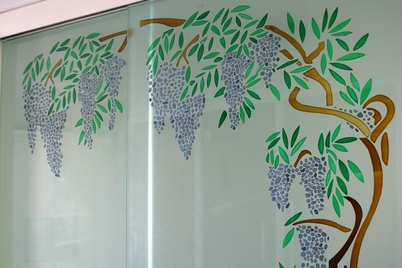 decorazione per porta con sabbiatura