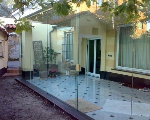 Veranda giardino in cristallo