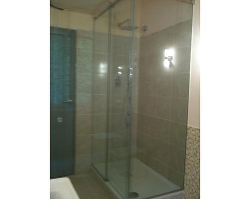 Box doccia ad angolo in cristallo
