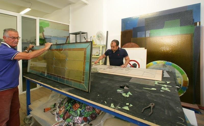 realizzazione vetrate tiffany