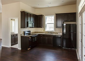 large open equipped kitchen