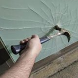 shattered laminated glass