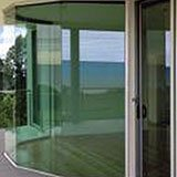 fixed glass panes