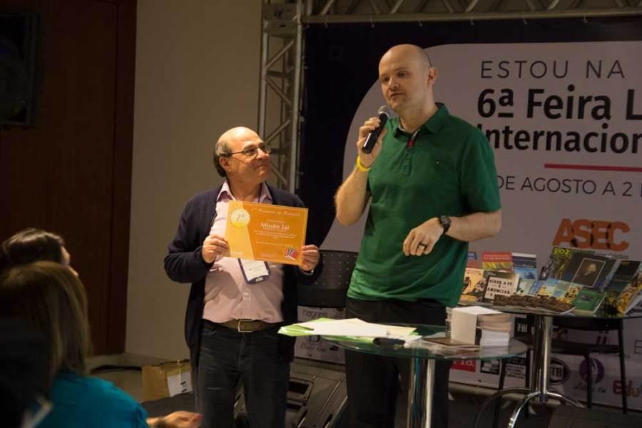 Fernando Tambucci, representante da Missão Sal | Concurso no Cenáculo | Fotos: Rodrigo de Brito