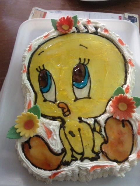 torta a forma di Titti il canarino