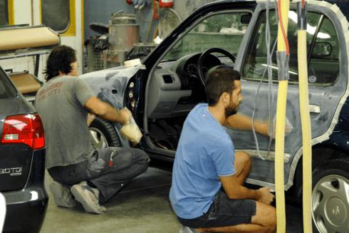 Riparazione fiancata auto completa