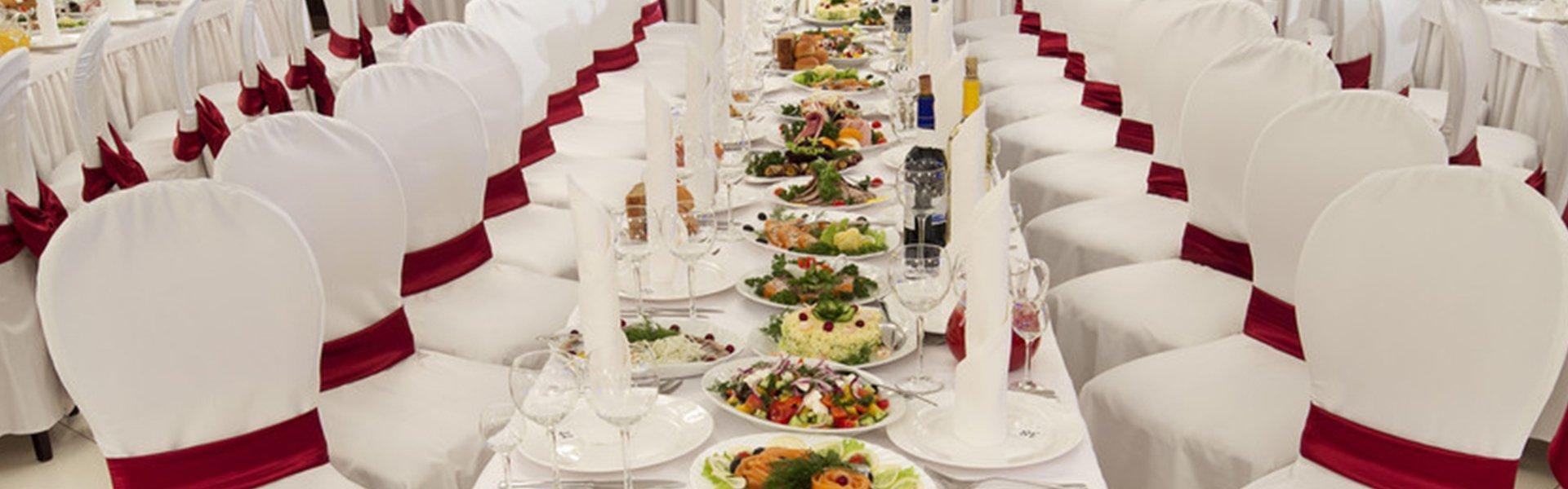 Wedding dining area