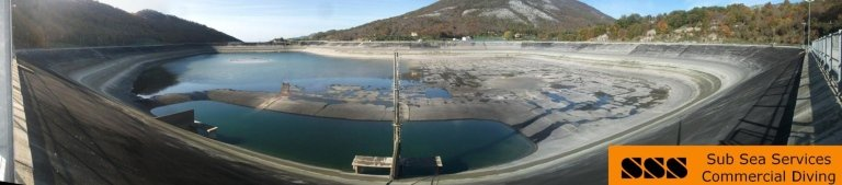 extraordinary maintenance at a hydroelectric reservoir