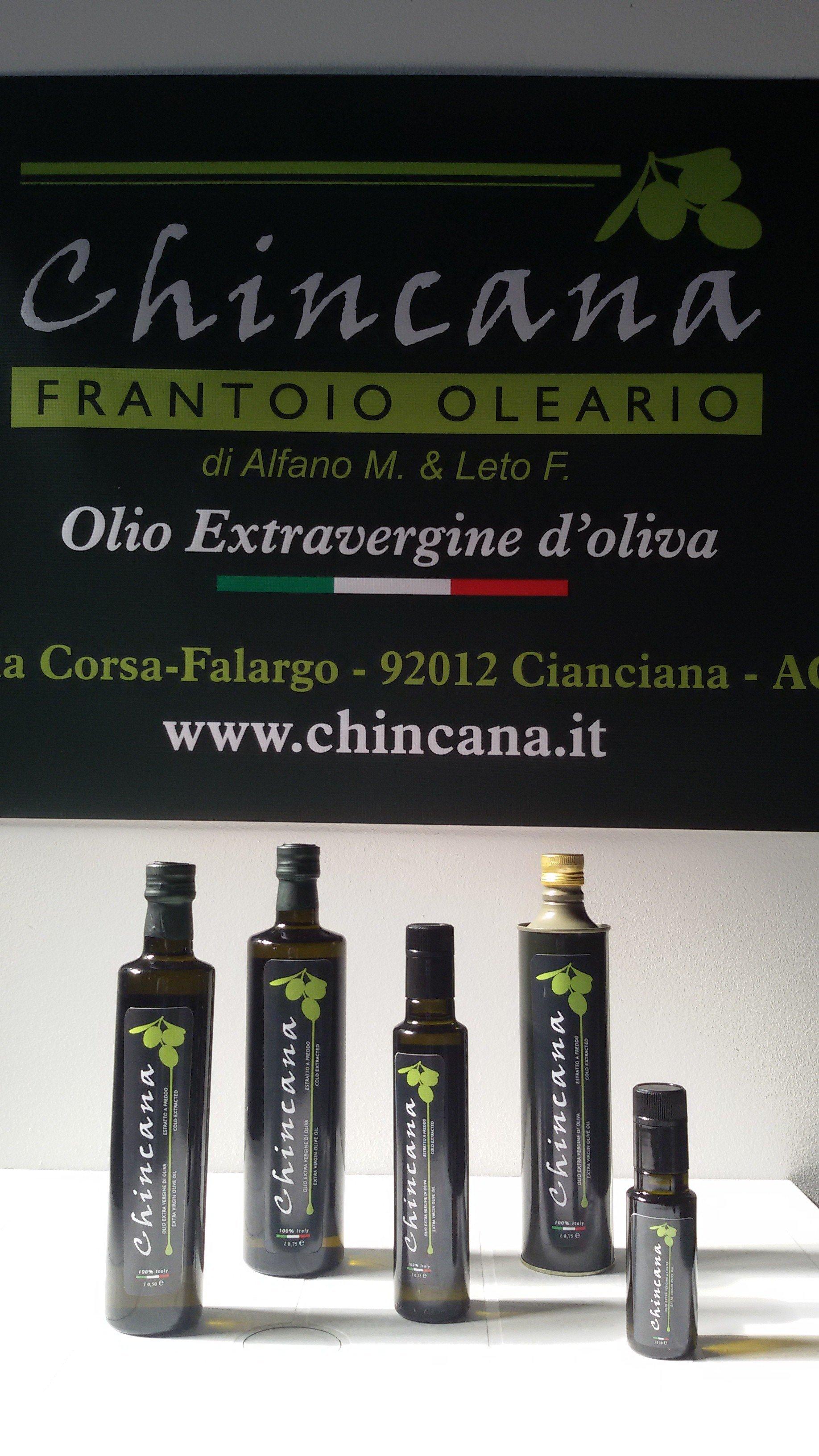 Prodotti Oleificio Frantoio Chincana - Olio Extravergine a Cianciana