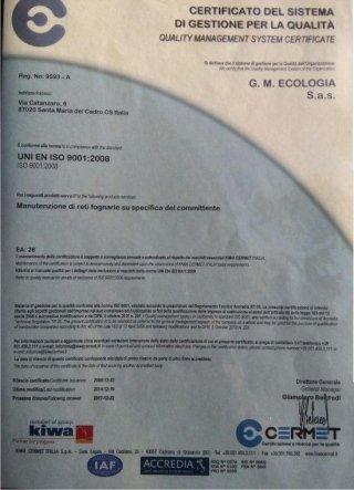 azienda certificata ISO 9001:2008.