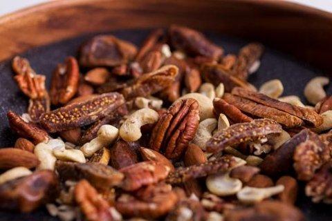 walnuts, hazelnuts, almonds