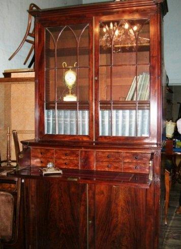 Libreria da studio. Con secretaire. Inghilterra. Se…l Settecento