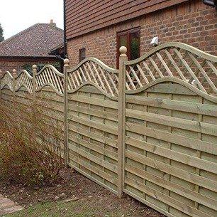 light brown fencing