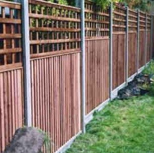 side view of the fencing