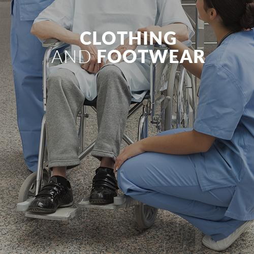 clothing and footwear for convalescence