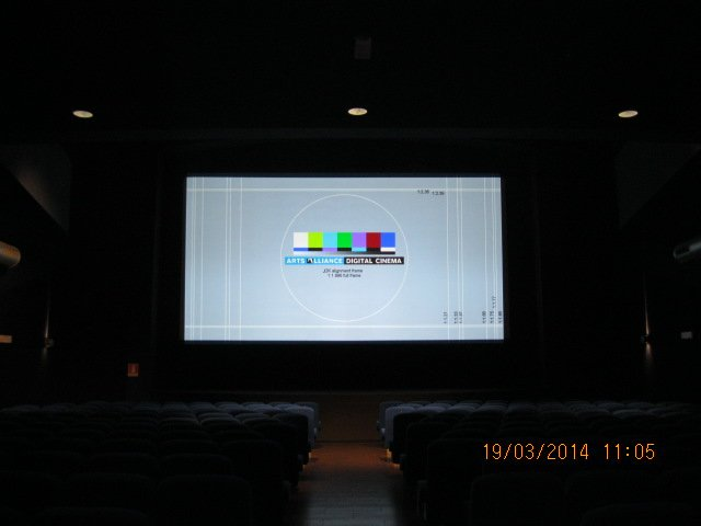 settaggio schermo di un videoproiettore