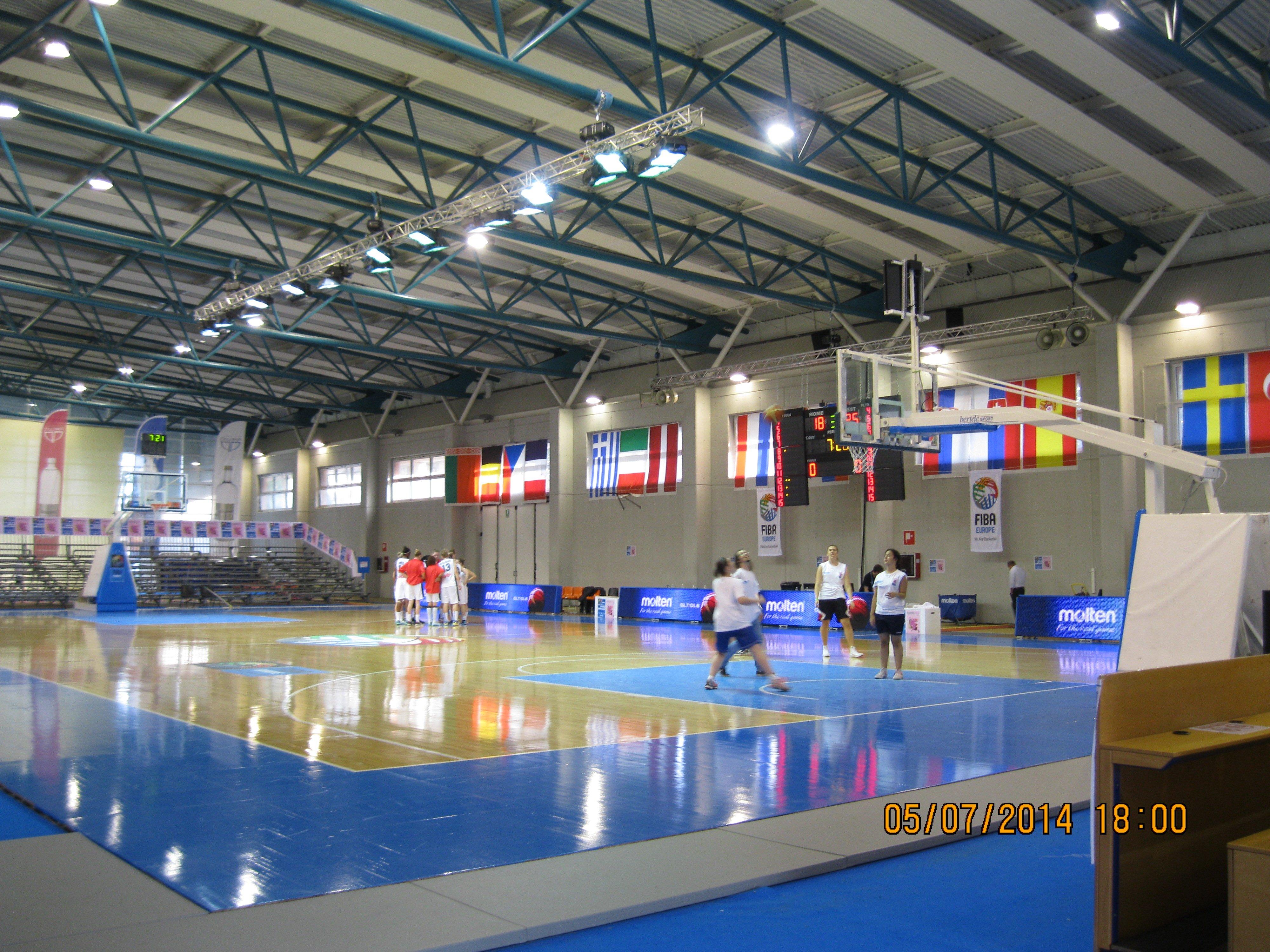 impianti acustici in un palazzo sportivo