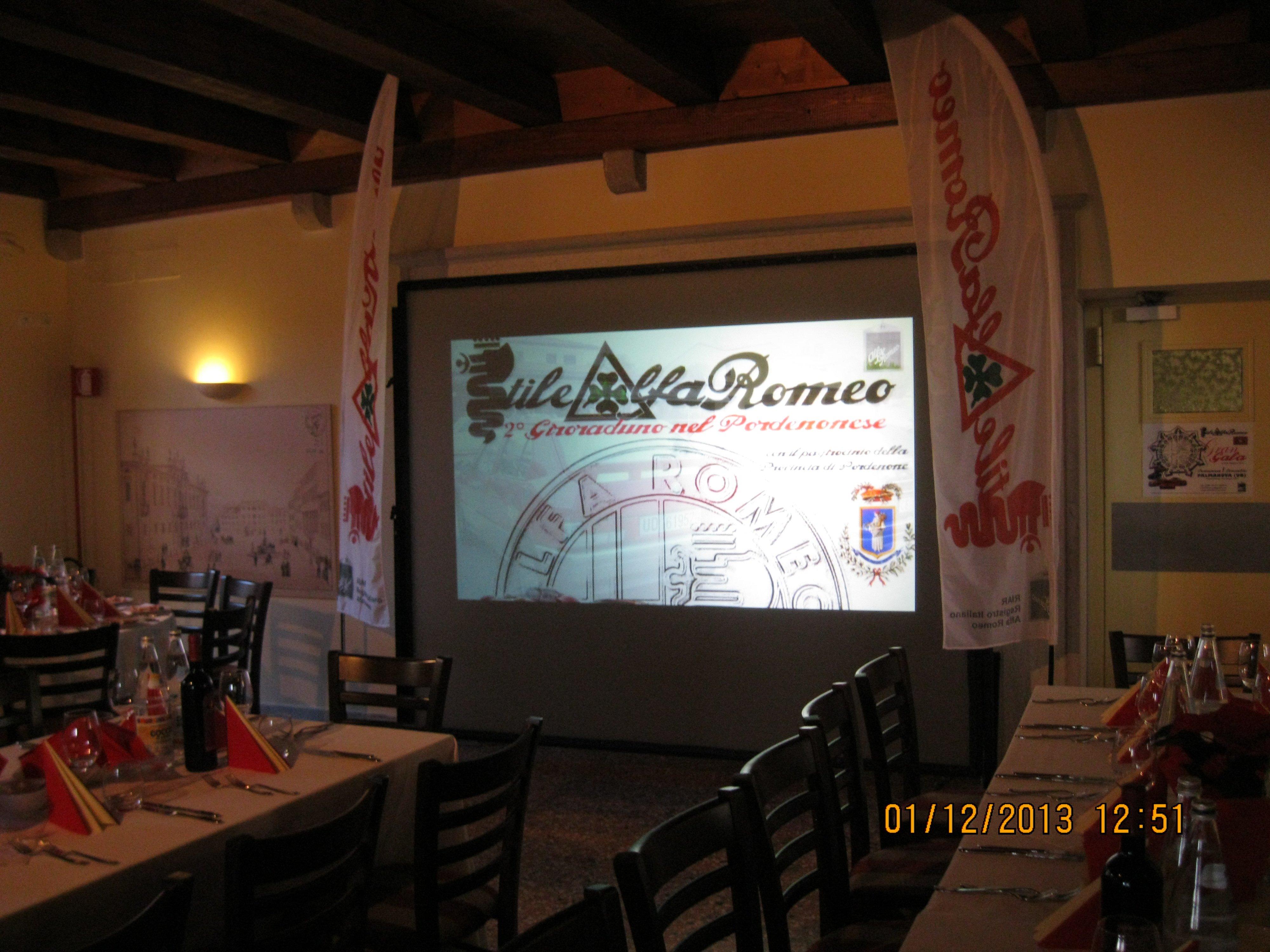 proiezione diapositive per conferenza