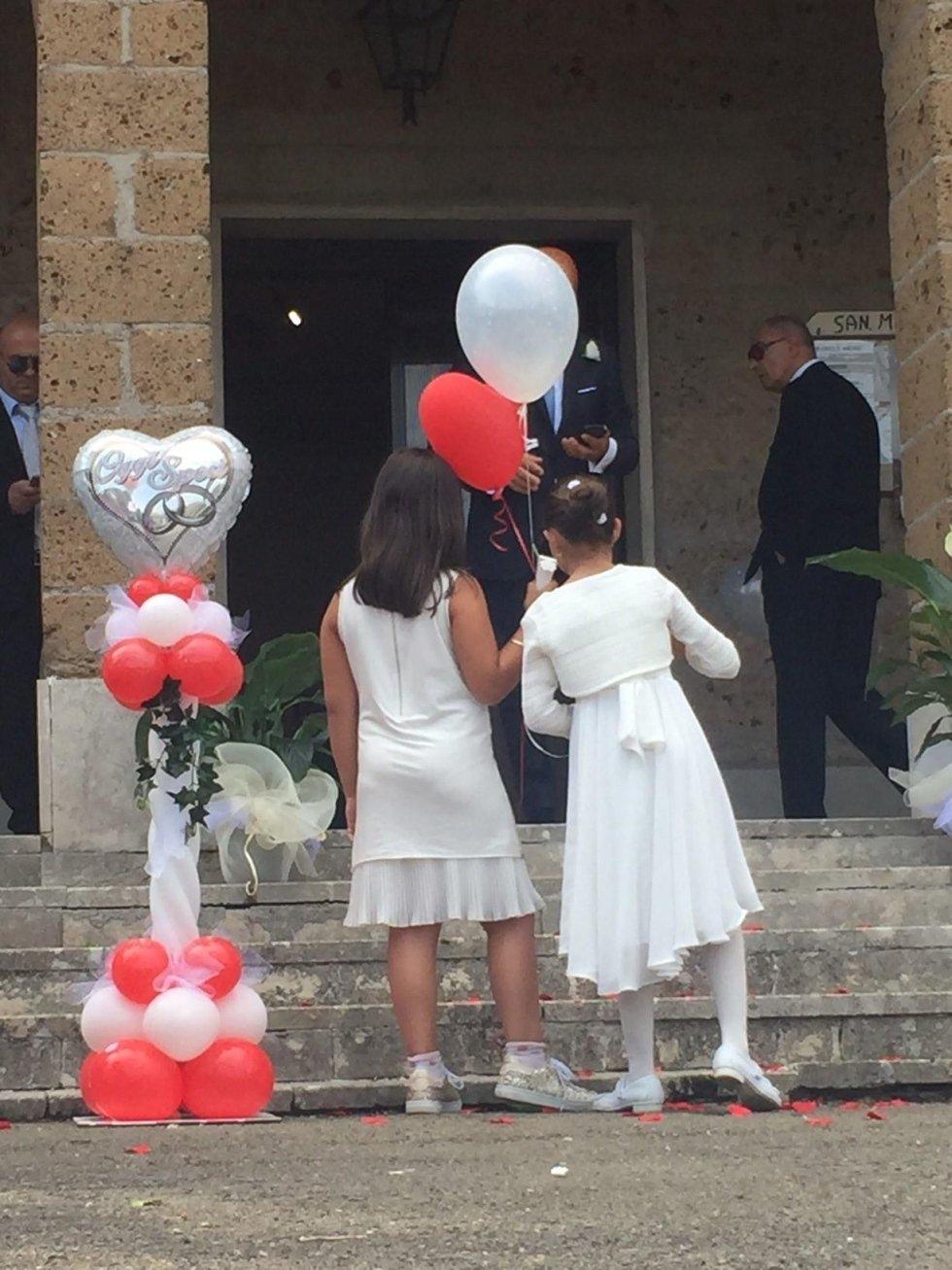 Allestimento palloncini per matrimoni