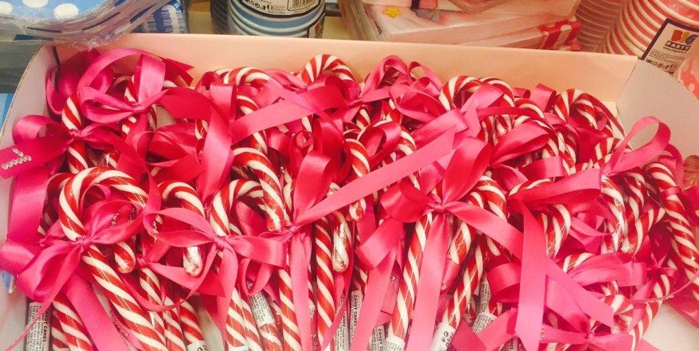 Regalino fine festa candy canes