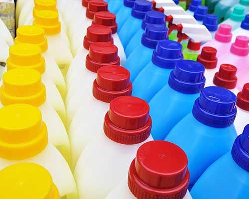 bottiglie di detergenti