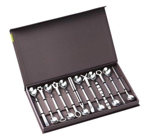 set di cucchiai, cucchiai in acciaio, cucchiaini