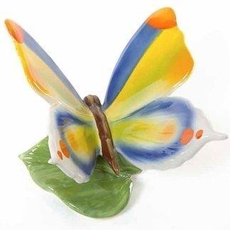 farfalle di porcellana, soprammobili colorati, oggetti colorati