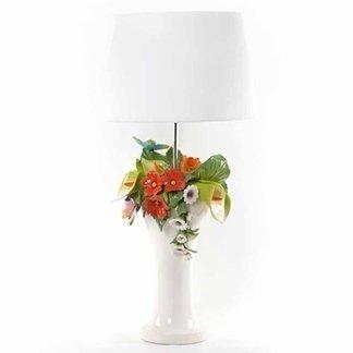 lampade con fiori, lampade decorative, lampade colorate