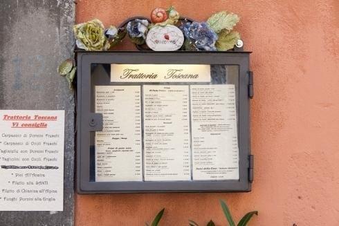 il menudella trattoria Toscana