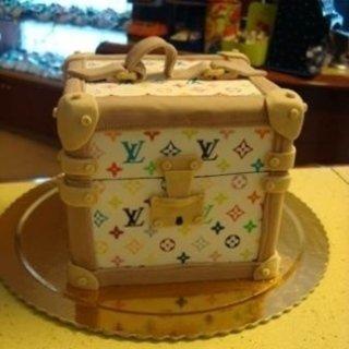 torte decorate, pasticceria, torta a forma di valigia