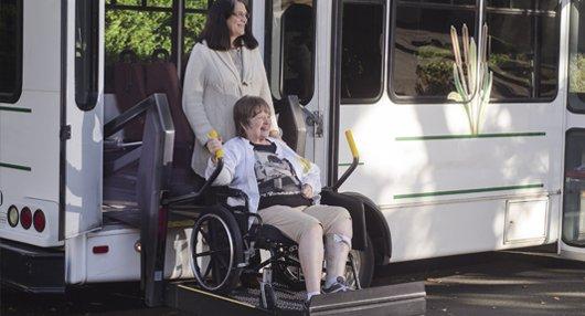 wheelchair friendly bus