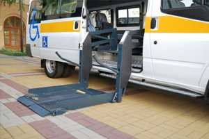 wheelchair-friendly minibus