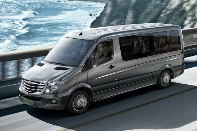 a family travelling in minibus