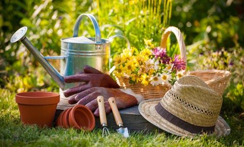 attrezzi da giardinaggio all'aperto