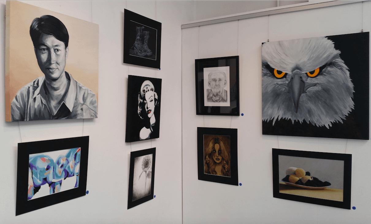 Art work exhibiting