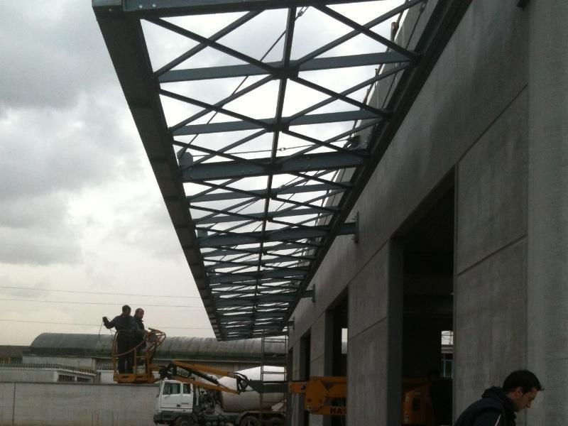 montaggio capannoni industriali