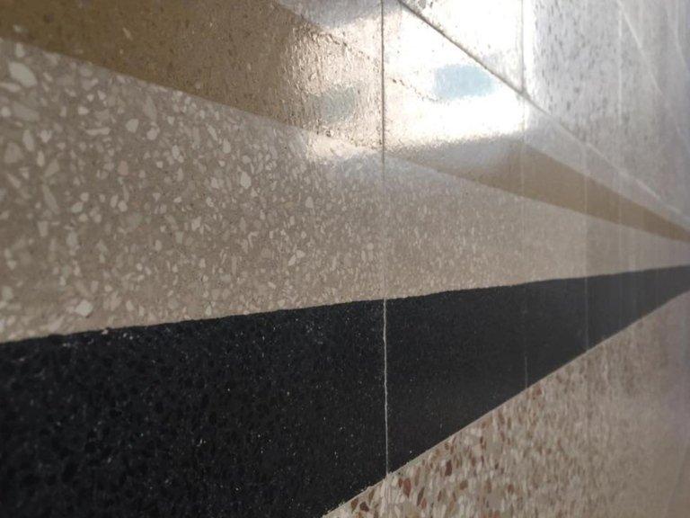Pavimento in graniglia lucidato