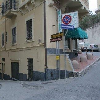 Ingresso da Via Re di Puglia in Via Torrente Sturla