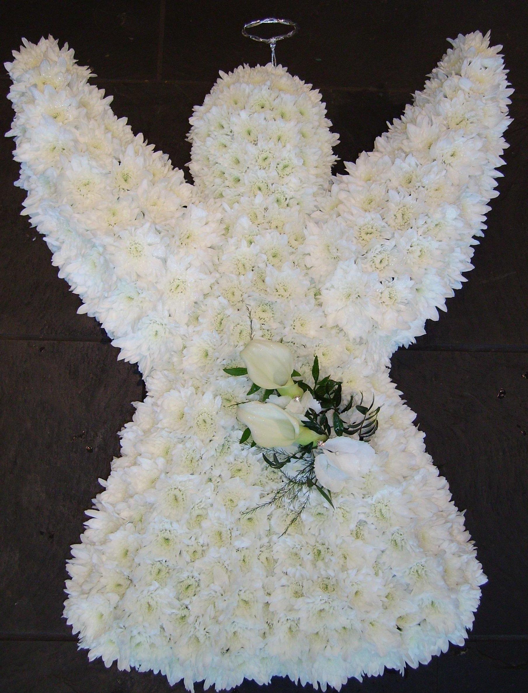 angel shape flowers