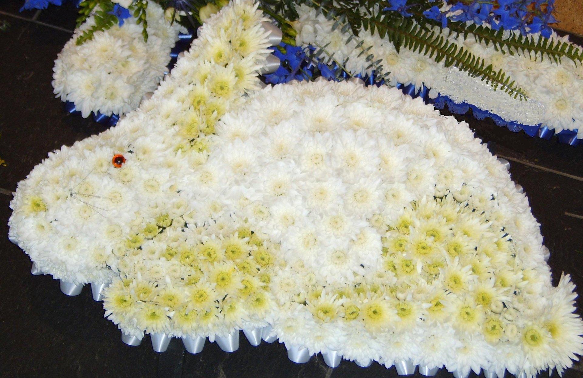 rabbit shape flowers